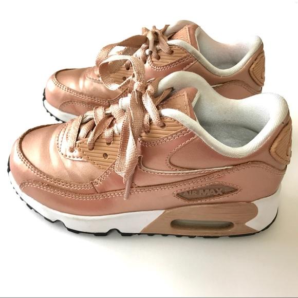 5343eabba8 Nike Shoes | Air Max 90 Leather Preschool Girls Size 12 | Poshmark
